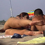 Teenage nudists, beach competitions, nude sports, spying on the beach.